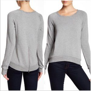 BORDEAUX Zipper Sweatshirt Super Soft Heather Gray